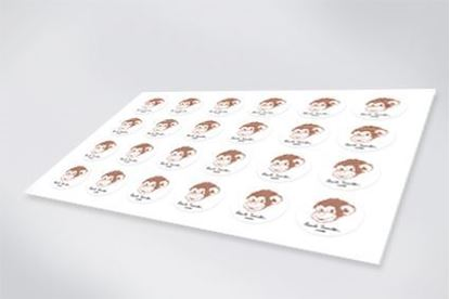 Self adhesive paper stickers